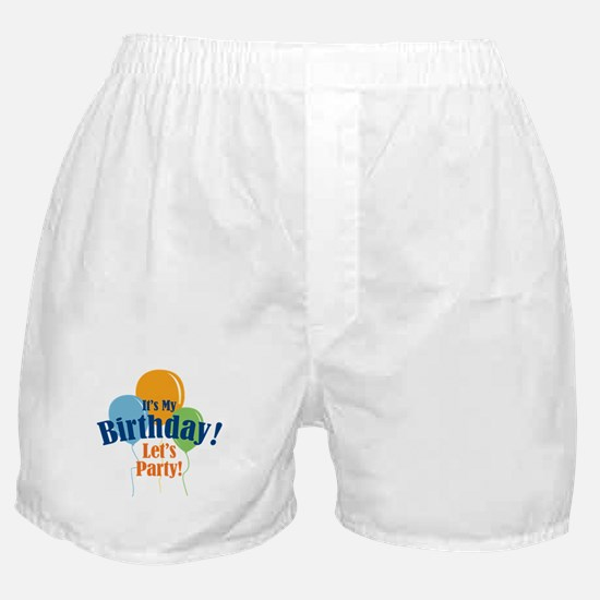 Birthday Party Balloons Boxer Shorts