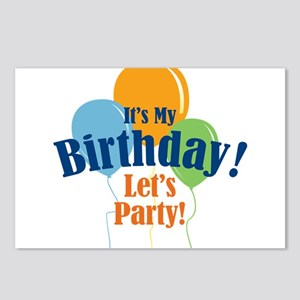 Birthday Party Balloons Postcards (Package of 8)