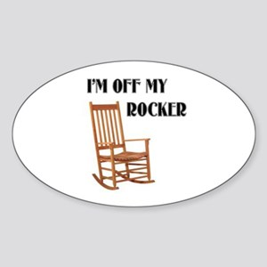 OFF MY ROCKER Oval Sticker