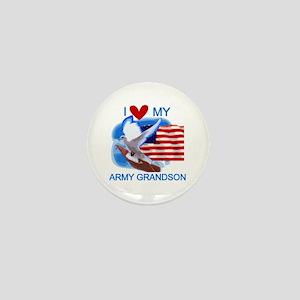 Love My Army Grandson Mini Button