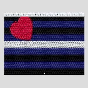13 LEATHER PRIDE FLAG DESIGNS Wall Calendar