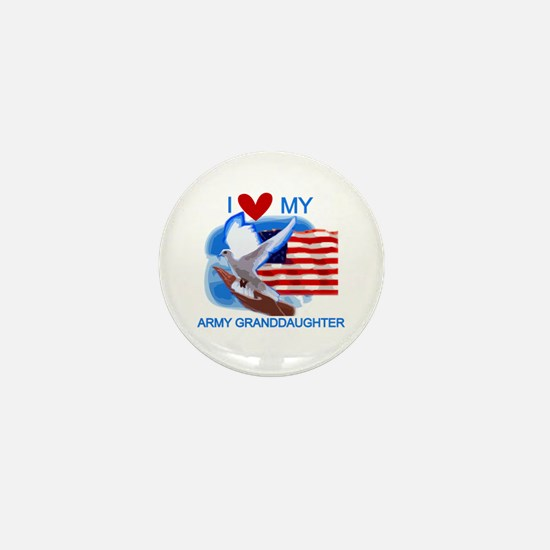 Love My Army Granddaughter Mini Button