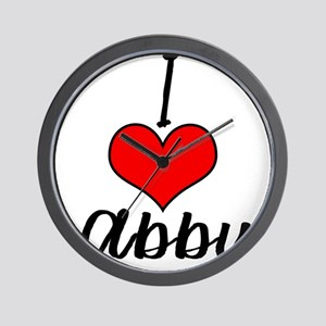 I Heart Abby Wall Clock