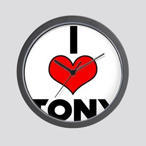 I heart Tony Wall Clock