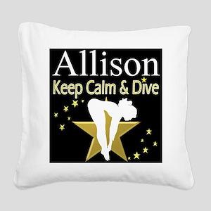 BEST DIVER Square Canvas Pillow