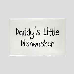 Daddy's Little Dishwasher Rectangle Magnet