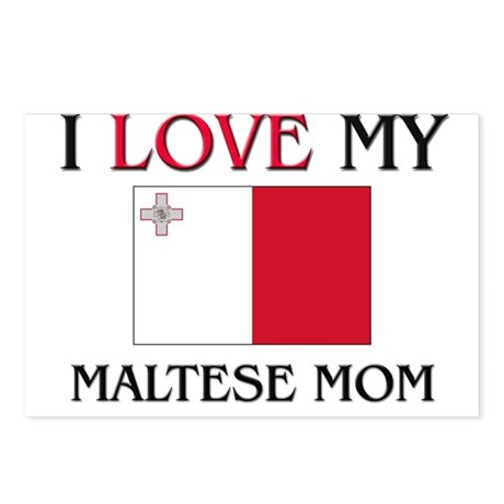 I Love My Maltese Mom Postcards (Package of 8)