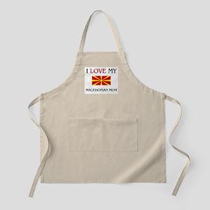 I Love My Macedonian Mom BBQ Apron