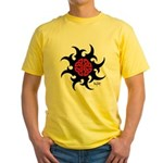 Mystic River Swirling Sun Yellow T-Shirt