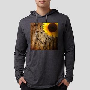 tree heart country sunflower Long Sleeve T-Shirt