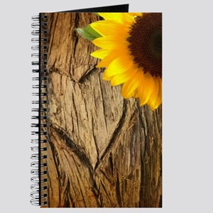 tree heart country sunflower Journal