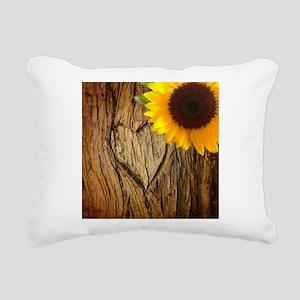 tree heart country sunfl Rectangular Canvas Pillow