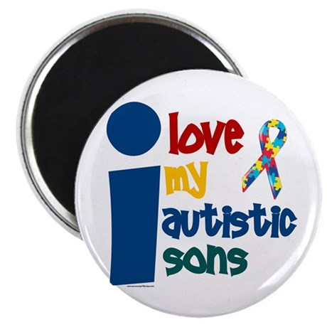 I Love My Autistic Sons 1 Magnet