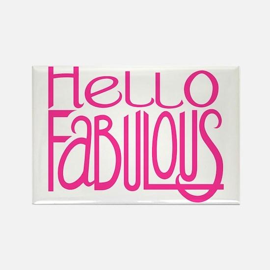 Hello Fabulous Short Rectangle Magnet (10 pack)