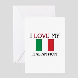 Italian language greeting cards cafepress i love my italian mom greeting card m4hsunfo