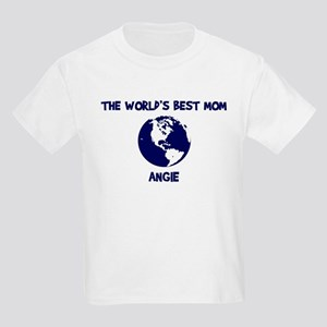 ANGIE - Worlds Best Mom Kids Light T-Shirt