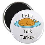 "Talk Turkey 2.25"" Magnet (10 pack)"