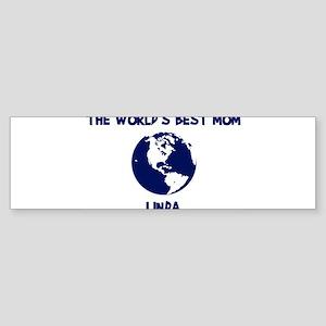 LINDA - Worlds Best Mom Bumper Sticker