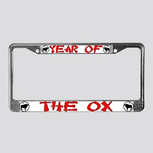 Year of the Ox License Plate Frame