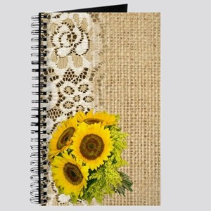 lace burlap western country sunflower Journal