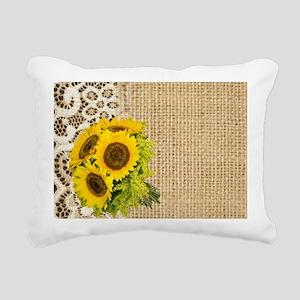 lace burlap western coun Rectangular Canvas Pillow
