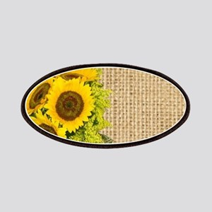 lace burlap western country sunflower Patch