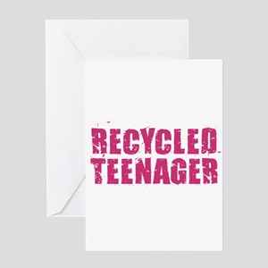 Recycled Teenager - Pink Greeting Cards