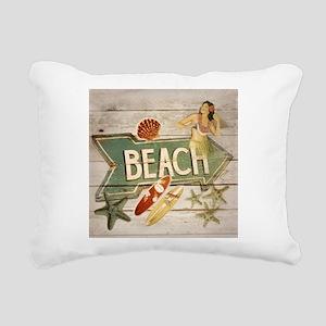 surfer beach sailor star Rectangular Canvas Pillow