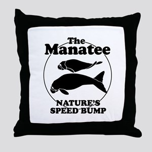 The Manatee, Nature's speed bump ~  Throw Pillow