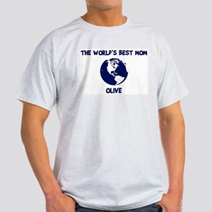 OLIVE - Worlds Best Mom Light T-Shirt