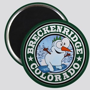 Breckenridge Snowman Circle Magnets