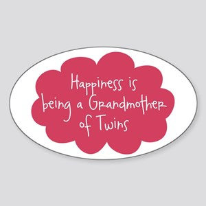 Grandmother of Twins Oval Sticker