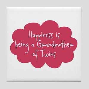 Grandmother of Twins Tile Coaster