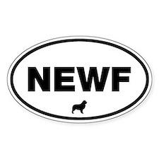 NEWF Oval Sticker