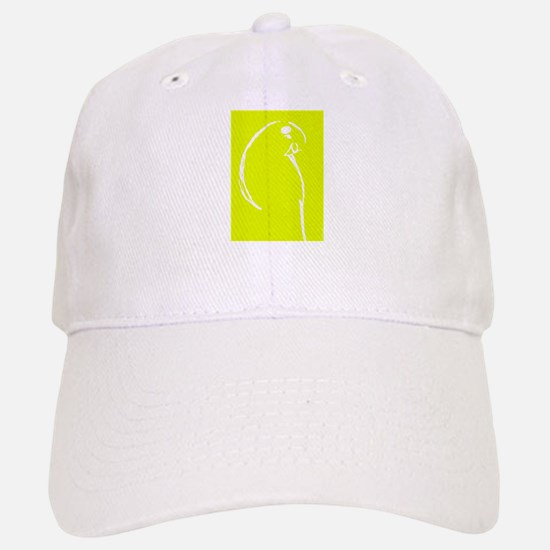 Yellow Budgie Baseball Baseball Cap