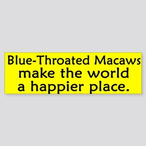 Happy Place Blue Throated Macaw Bumper Sticker