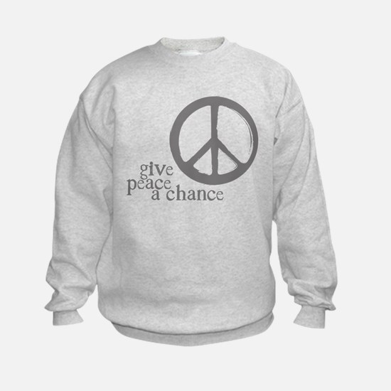 Give Peace a Chance - Grey Sweatshirt