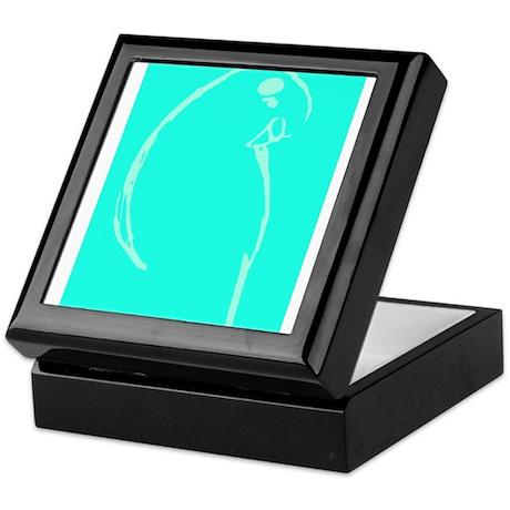 Light Blue Budgie Keepsake Box