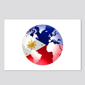 Filipinos Abroad Globe Postcards (Package of 8)