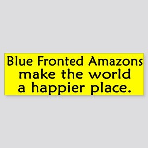 Happy Place Blue Fronted Amazon Bumper Sticker