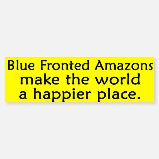 Happy Place Blue Fronted Amazon Bumper Bumper Bumper Sticker