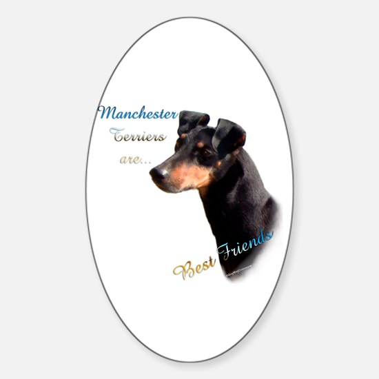 Manchester Best Friend 1 Oval Decal