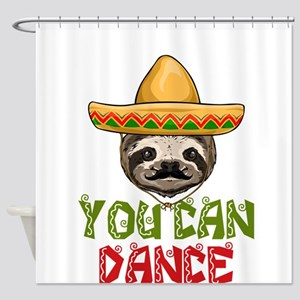 Trust Me You Can Dance Sloth Shower Curtain