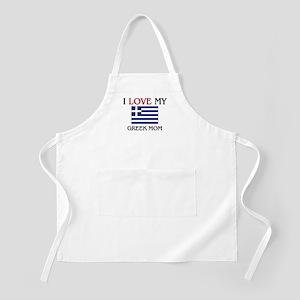 I Love My Greek Mom BBQ Apron