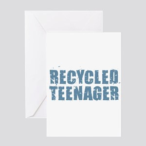 Recycled Teenager - Blue Greeting Cards