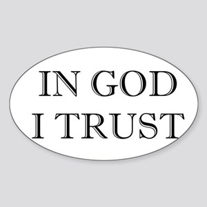 In God I Trust Oval Sticker