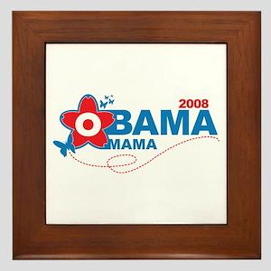 obama mama flower - red_05 Framed Tile