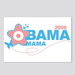 obama mama flower - pink_05 Postcards (Package of