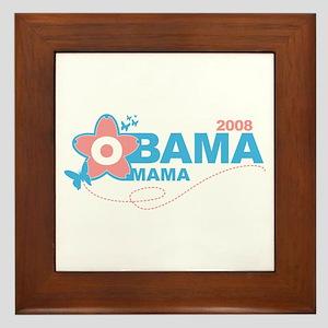 obama mama flower - pink_05 Framed Tile