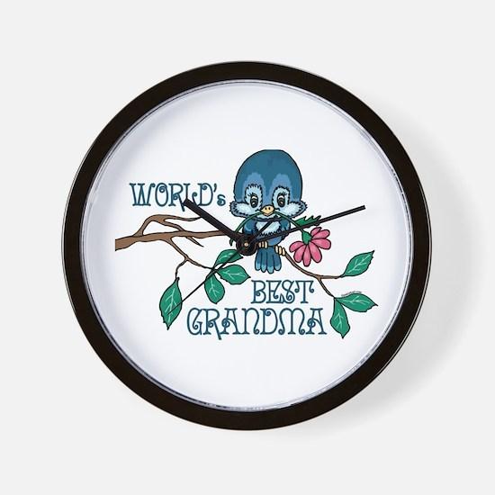 Birdie Best Grandma Wall Clock